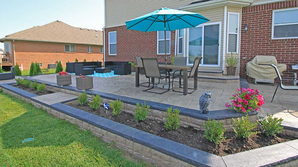 Stamped concrete patio in Macomb, Michigan