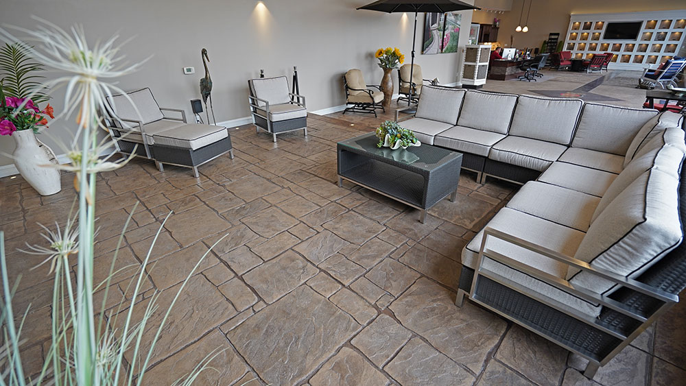 English Yorkstone Stamp Biondo Showroom Macomb Township, MI