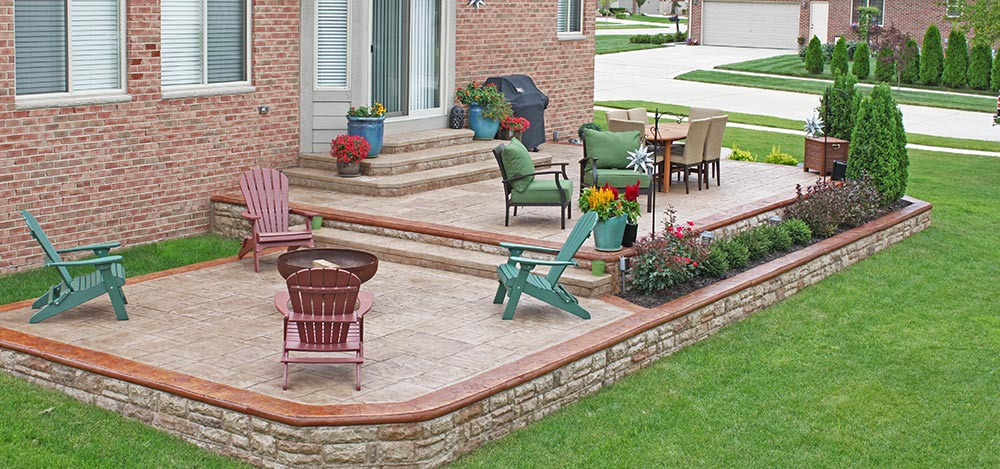 Stamped Concrete Patios Near Macomb Township, Michigan
